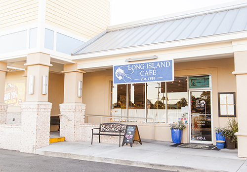 front of long island cafe, isle of palms sc